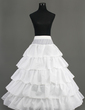Women Nylon Floor-length 5 Tiers Petticoats (037005376)