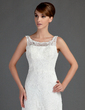 Trumpet/Mermaid Scoop Neck Court Train Lace Wedding Dress (002015709)