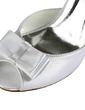 Women's Satin Stiletto Heel Peep Toe Sandals With Bowknot Imitation Pearl (047020130)