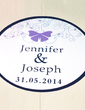 Personalized Butterfly PVC Dance Floor Decals (118033731)