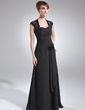 A-Line/Princess Sweetheart Floor-Length Chiffon Lace Mother of the Bride Dress With Ruffle Beading Flower(s) (008006153)