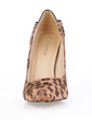 Suede Stiletto Heel Pumps Closed Toe With Animal Print shoes (085016542)