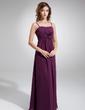 Imperialna Kochanie Do Podłogi Chiffon Suknia dla Druhny Z Żabot Kwiat(y) (007004300)