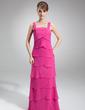 Linia A/Księżniczka Kwadratowy Dekolt Do Podłogi Chiffon Suknia dla Mamy Panny Młodej (008006004)