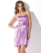 Sheath/Column Sweetheart Short/Mini Charmeuse Cocktail Dress With Ruffle (016008297)