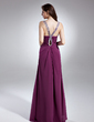 Empire Sweetheart Floor-Length Chiffon Prom Dress With Ruffle Beading Split Front (018015622)