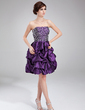 A-Line/Princess Sweetheart Knee-Length Taffeta Homecoming Dress With Ruffle Beading (022011224)