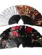 Floral Design Plastic/Fabric Hand fan (Set of 4) (051055112)