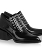Patent Leather Chunky Heel Pumps Closed Toe Ankle Boots shoes (088055768)
