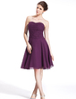 A-Line/Princess Sweetheart Knee-Length Chiffon Bridesmaid Dress With Ruffle (022026276)