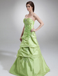 A-Line/Princess Sweetheart Floor-Length Taffeta Quinceanera Dress With Ruffle Beading Appliques Lace (021020767)