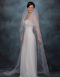One-tier Chapel Bridal Veils With Cut Edge (006013295)