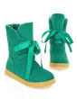 Suede Flat Heel Mid-Calf Boots Snow Boots With Lace-up shoes (088039621)