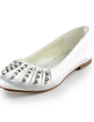 Women's Satin Flat Heel Closed Toe Flats With Beading Imitation Pearl (047014155)