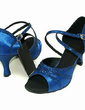 Women's Satin Sparkling Glitter Sandals Latin Dance Shoes (053013033)