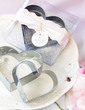 Kalpler Paslanmaz Çelik Kek ve Cookie Cutter Kalıp Ile Saten Kurdele/Etiket (051011370)