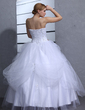 Ball-Gown Sweetheart Floor-Length Tulle Wedding Dress With Ruffle Lace Beading Sequins (002011964)