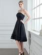 Çan/Prenses Askısız Diz Hizası Organza Satin Nedime Elbisesi (007001813)