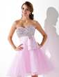 Empire Sweetheart Knee-Length Tulle Homecoming Dress With Beading Sequins (022020962)