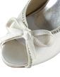 Women's Satin Cone Heel Peep Toe Platform Sandals With Bowknot Rhinestone (047020210)