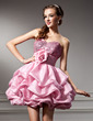 Empire Sweetheart Short/Mini Taffeta Sequined Homecoming Dress With Ruffle Flower(s) (022010620)