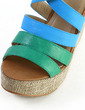 Leatherette Wedge Heel Sandals Platform Peep Toe shoes (087033704)