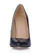Leatherette Stiletto Heel Pumps Closed Toe shoes (085017506)