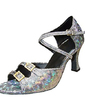 Women's Leatherette Heels Sandals Latin With Ankle Strap Dance Shoes (053013243)