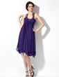Empire Scoop Neck Knee-Length Chiffon Homecoming Dress With Ruffle Beading (022010502)