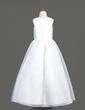 Linia A/Księżniczka Do Podłogi Flower Girl Dress - Organza Bez Rękawów Dekolt łódka Z Kwiat(y) (010005904)