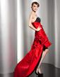 A-Line/Princess Sweetheart Asymmetrical Taffeta Prom Dress With Ruffle Beading (018014491)
