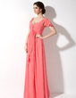 Empire Sweetheart Floor-Length Chiffon Chiffon Maternity Bridesmaid Dress With Cascading Ruffles (045022461)