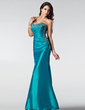 Trumpet/Mermaid Sweetheart Floor-Length Taffeta Prom Dress With Ruffle Beading Sequins (018002510)