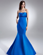 Trumpet/Mermaid Sweetheart Floor-Length Satin Evening Dress With Ruffle Beading (008015632)