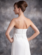 Empire Sweetheart Sweep Train Chiffon Evening Dress With Ruffle Beading (017016876)