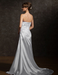 A-Line/Princess Sweetheart Court Train Charmeuse Wedding Dress With Ruffle Beading Appliques Lace (002012093)