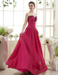 A-Line/Princess Sweetheart Floor-Length Chiffon Prom Dress With Ruffle Beading Sequins (018015504)