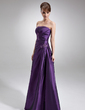 Çan/Prenses Askısız Uzun Etekli Taffeta Gelin Annesi Elbisesi Ile Büzgü Boncuklama (008006485)