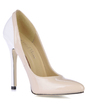 Women's Patent Leather Stiletto Heel Closed Toe Pumps (047016461)