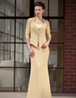 Trumpet/Mermaid Sweetheart Floor-Length Chiffon Charmeuse Mother of the Bride Dress (008018721)