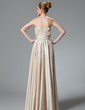 A-Line/Princess Sweetheart Floor-Length Charmeuse Evening Dress With Ruffle Beading (017022514)