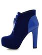 Süet Suni deri Kalın Topuk Ayak bileği Boots Ile Bağcıklı ayakkabı (088057329)