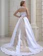 A-Line/Princess Halter Chapel Train Satin Wedding Dress With Embroidered Sash Beading (002000039)