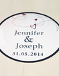 Personalized Heart And Line PVC Dance Floor Decals (118033729)