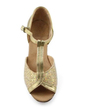 Women's Leatherette Sparkling Glitter Sandals Latin Ballroom With T-Strap Dance Shoes (053009740)