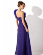 Linia A/Księżniczka Jednoramienna Do Podłogi Chiffon Organza Suknia dla Mamy Panny Młodej Z Żabot (008006540)