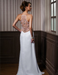 Sheath/Column Sweetheart Asymmetrical Chiffon Evening Dress With Beading (017021087)