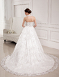 Ball-Gown Halter Chapel Train Lace Wedding Dress With Beading Sequins (002012035)