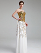 A-Line/Princess Sweetheart Floor-Length Chiffon Sequined Prom Dress (018019682)