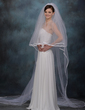 Two-tier Cathedral Bridal Veils With Ribbon Edge (006003746)